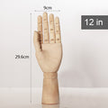Movable Joint Wooden Hand Model - lovedécorart