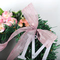 Pink Christmas Letter Rose Wreath - lovedécorart