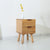Double Drawer Wooden Nightstand - lovedécorart