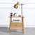 Wooden Small Nightstand With Drawer - lovedécorart