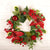 Christmas Red Rattan Wreath - lovedécorart