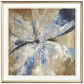 Modern Blue Flowers Wall Paintings - lovedécorart