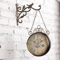 Retro Two-sided Wall Clock - lovedécorart