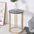 Golden Marble Top End Tablle - lovedécorart