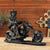 Motorcyle Riding Cowboy Sculpture - lovedécorart