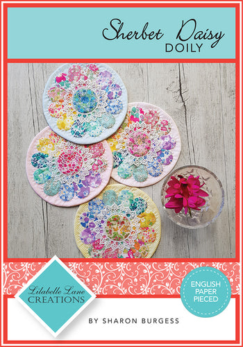 Sherbet Daisy Doily by Lilabelle Lane Creations - Creative Card - Downloadable PDF