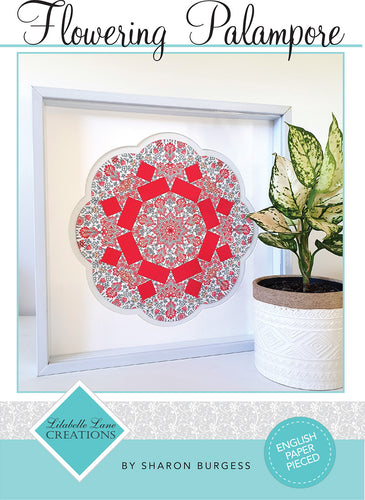 Flowering Palampore Wall Hanging By Lilabelle Lane Creations - English Paper Pieced Pattern