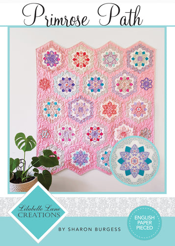 ** NEW RELEASE **  Primrose Path Quilt by Lilabelle Lane Creations - English Paper Pieced Pattern