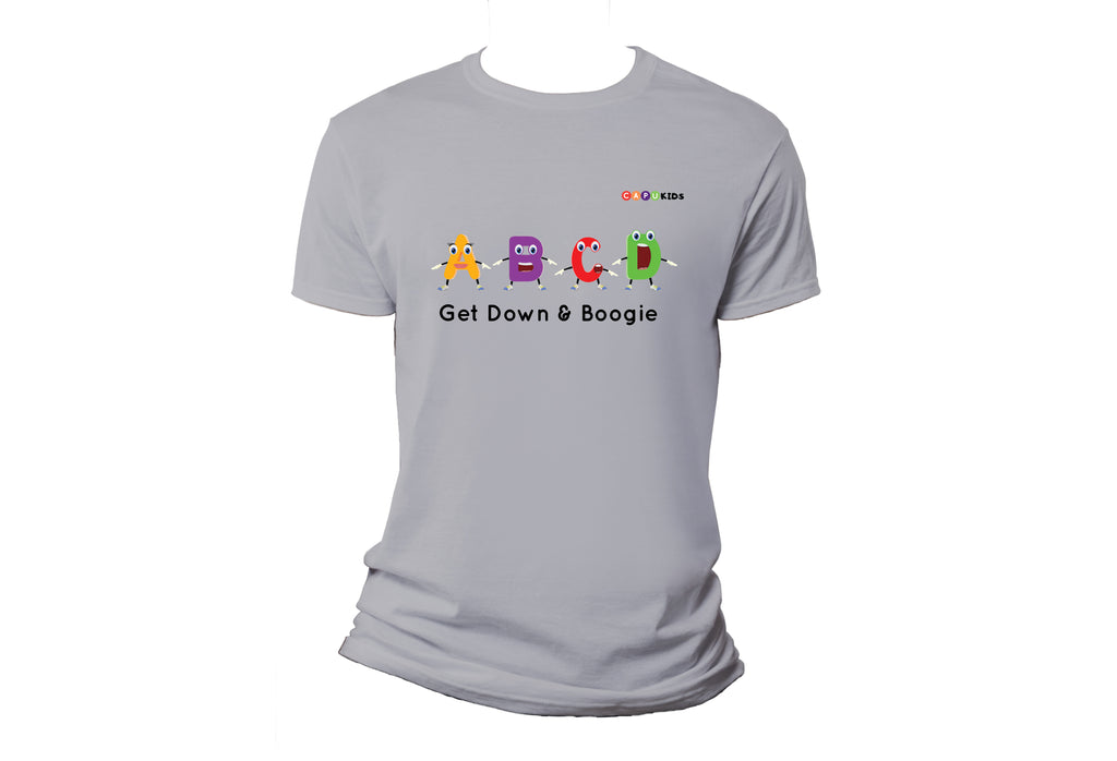 Alphabet Boogie Adult T-Shirts - Grey