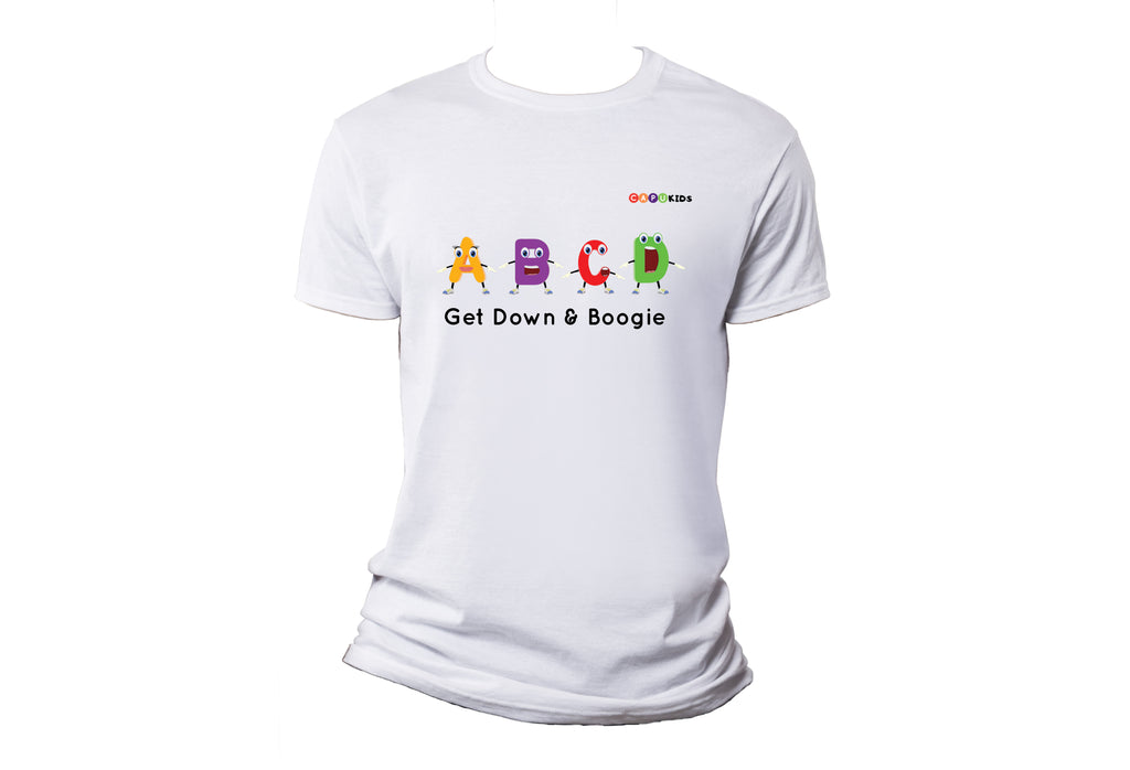 Alphabet Boogie Adult T-Shirts - White