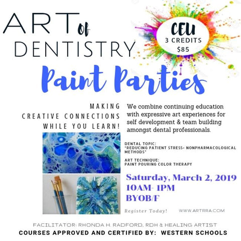 3 Hour CEU and Paint Party! GROUP RESERVATIONS