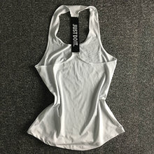 Load image into Gallery viewer, Women Sleeveless Fitness Vest  Exercise Workout Sports T-Shirts Fitness Running Sport Vest Yoga top Gym Clothing T-Shirt