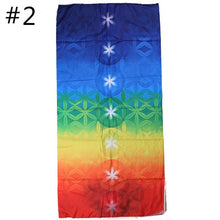 Load image into Gallery viewer, New Rainbow Stripes Yoga Blankets Mandala Beach Towel Yoga Mat Bohemia Mandala Blanket Pilates Towel Wall Hanging Mat
