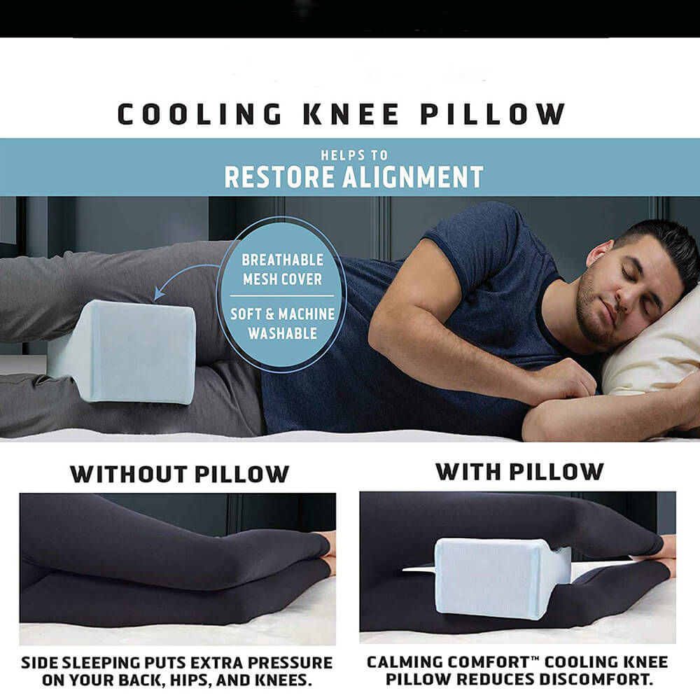 Charcoal Infused™  Memory Foam Knee Pillow