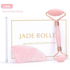 Authentic Jade & Rose Quartz Beauty Roller