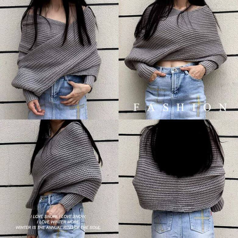 Scarf with Sleeves