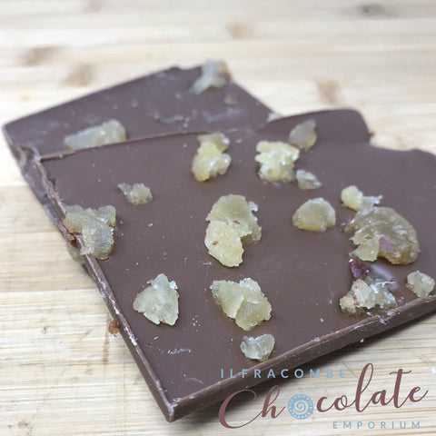 Milk Chocolate Slab with Crystalised Ginger