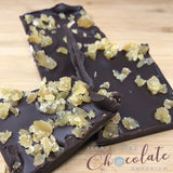 Dark Chocolate Slab with Crystalised Ginger