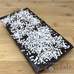 Deluxe Dark Chocolate Bar with mint crunch