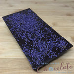 Deluxe Dark chocolate bar with crystallised violet pieces