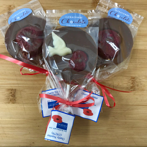 In support of British Legion Poppy Appeal Milk Chocolate Lolly