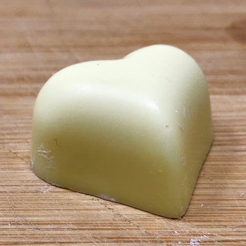 Handmade White solid chocolate Heart