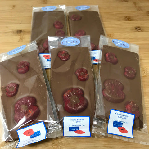 In support of British Legion Poppy Appeal Milk Chocolate Bars