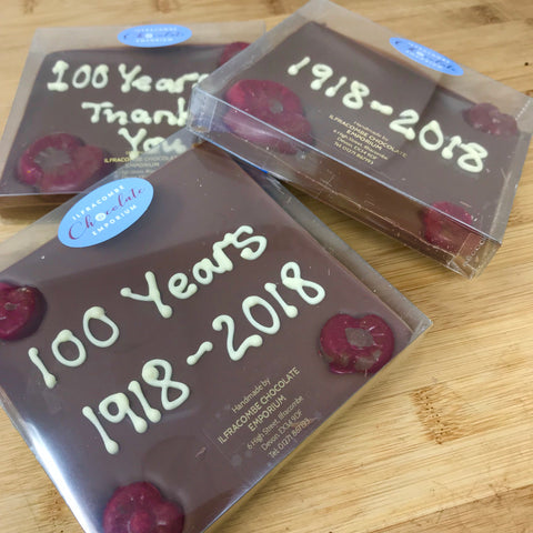 In support of British Legion Poppy Appeal Milk Chocolate Square Slab