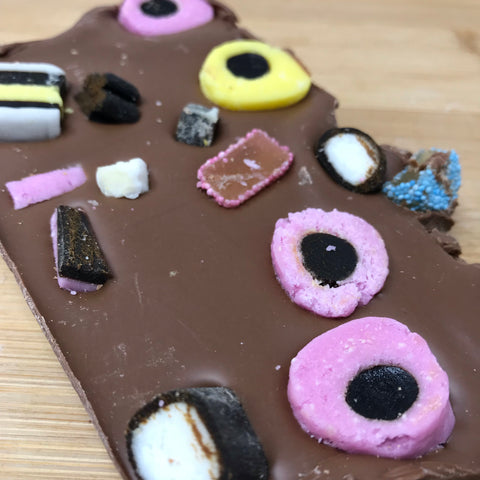 Milk Chocolate with Liquorice Allsorts Slab