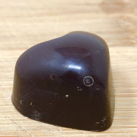 Handmade Dark chocolate solid heart
