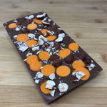 Deluxe Milk Chocolate with Orange flavoured Chocolate Drops and Hazelnuts