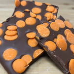 Milk Chocolate Slab with Orange Drops