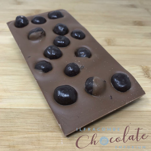 Deluxe Milk Chocolate Bar with Dark chocolate coated Roasted Coffee Beans