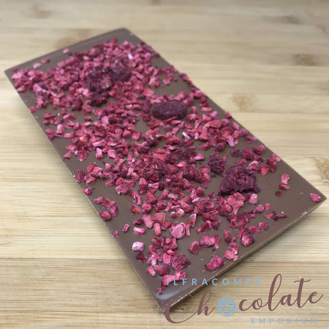 Deluxe Milk Chocolate with Raspberry Bar
