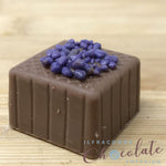 Handmade Milk chocolate with crystallised violet fondant