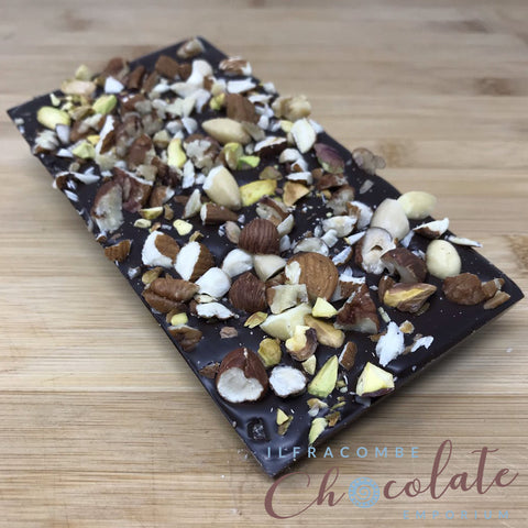 Deluxe Dark Chocolate Bar with Mixed Nuts