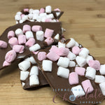 Milk Chocolate Slab with pink & white marshmallows