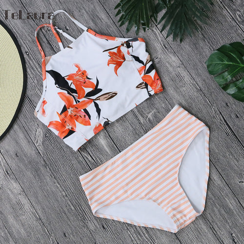 2019 Sexy High Neck Bikini Women Swimwear