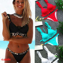 2PCS Bandage Bikini Push-up Padded Bra