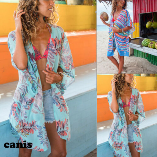 Women Beach Cover up Kaftan Sarong Beachwear Swimwear Loose Tops