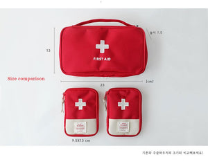 161pcs/Pack Red Mini First Aid Kit Wilderness Survival Kit Medical Rescue Bag Safe Camping Hiking Travel Emergency First Aid
