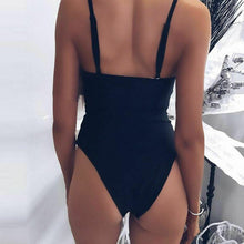 One Piece Hollow Out Bandage Bikini Push Up Bathing Suit