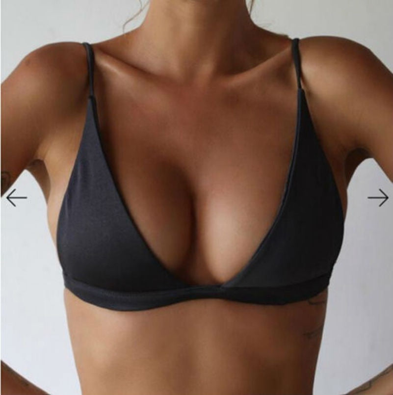 Halter Push Up Bikini Set padded bra