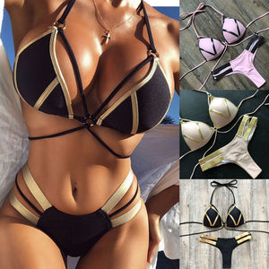 Bandage Push-Up Padded Swimwear Swimsuit Bathing Suit