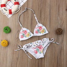 Hot Kid Baby Girls Embroidery Floral Bikini Set
