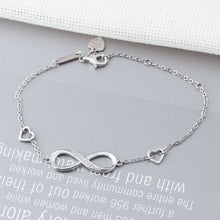Load image into Gallery viewer, 925 Sterling Silver Infinity Bracelets for Women Adjustable Friendship Bracelets & Bangles Wedding Gift Ideas