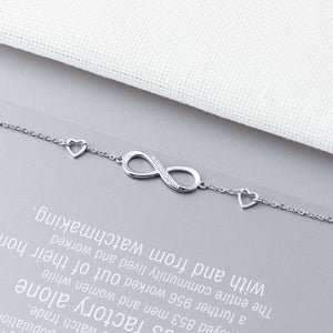 925 Sterling Silver Infinity Bracelets for Women Adjustable Friendship Bracelets & Bangles Wedding Gift Ideas