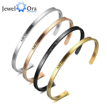 Load image into Gallery viewer, Personalized Gift Friendship Cuff Bracelets for Women Engrave Name Stainless Steel ID Bracelets & Bangles