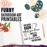 Printable Bathroom Wall Art