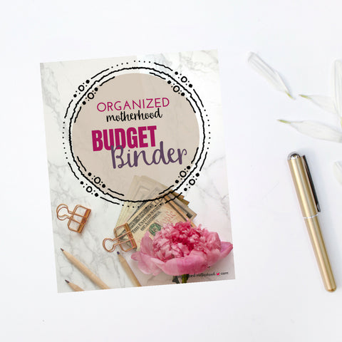 Organized Motherhood Budget Binder